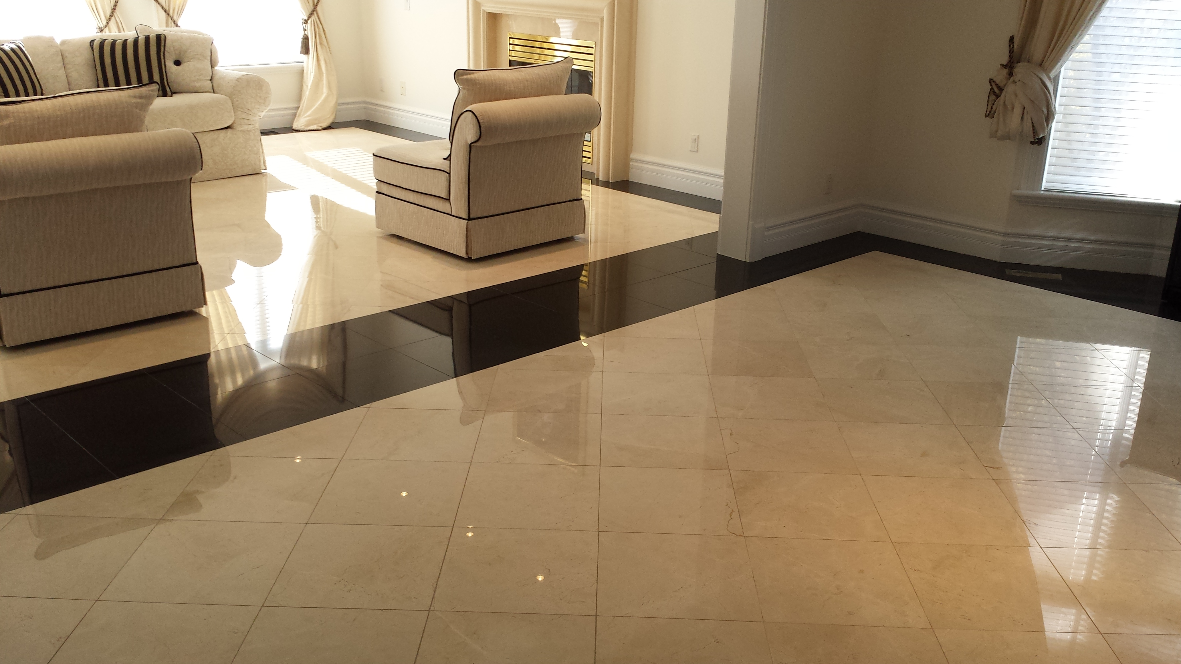 Polished Marble And Granite Floor Restoration Marble Renewal